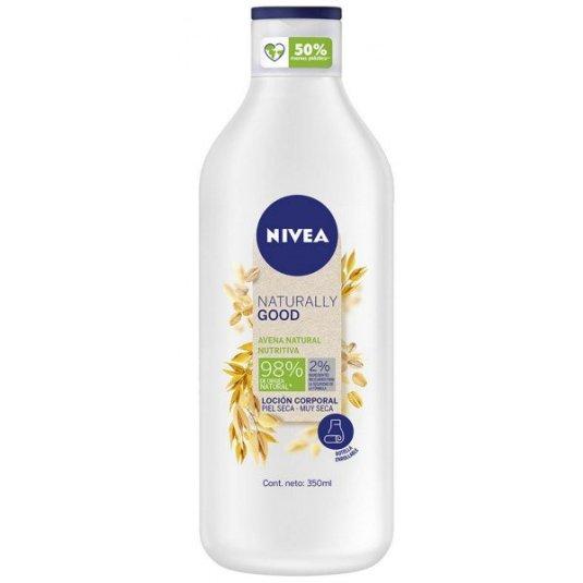 nivea naturally good locion corporal nutritiva avena 350ml