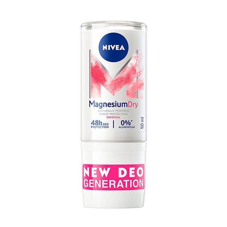 nivea magnesium dry original sin aluminio roll-on 50ml 48 horas
