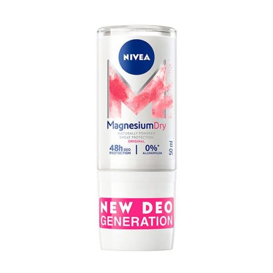 nivea magnesium dry original sin aluminio roll-on 50ml 48 horas