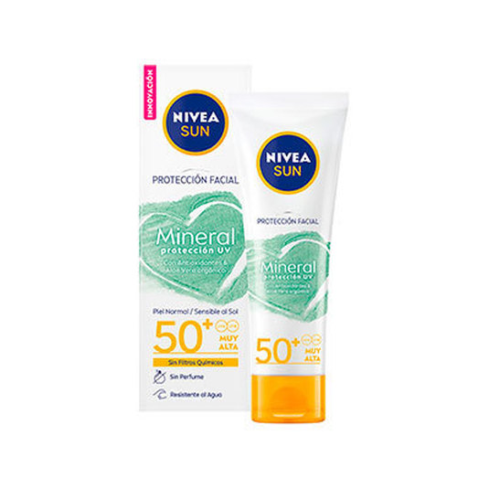 nivea sun protecion facial mineral uv spf50+ 50ml