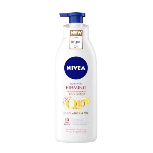 nivea firming q10 locion corporal hidratante con aceite de argan