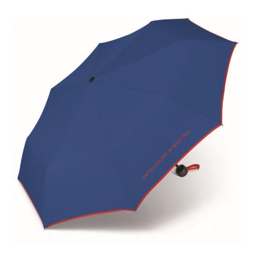 paraguas benetton super minicolor azul de bolsillo 23cm