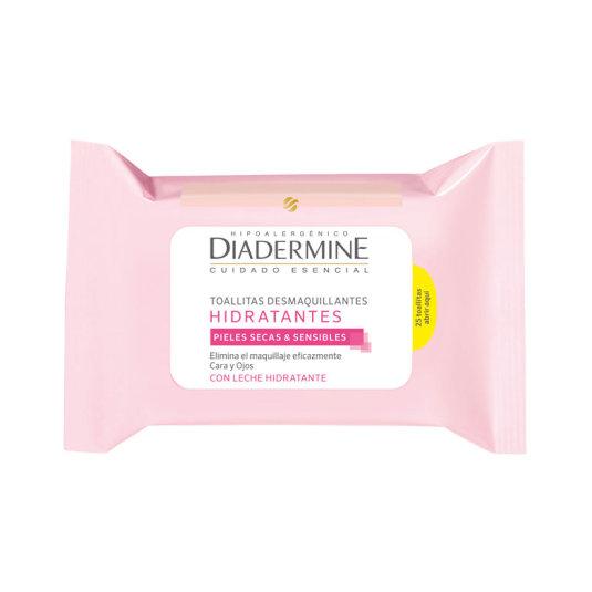 diadermine toallitas desmaquillantes pieles secas-sensibles 25uds