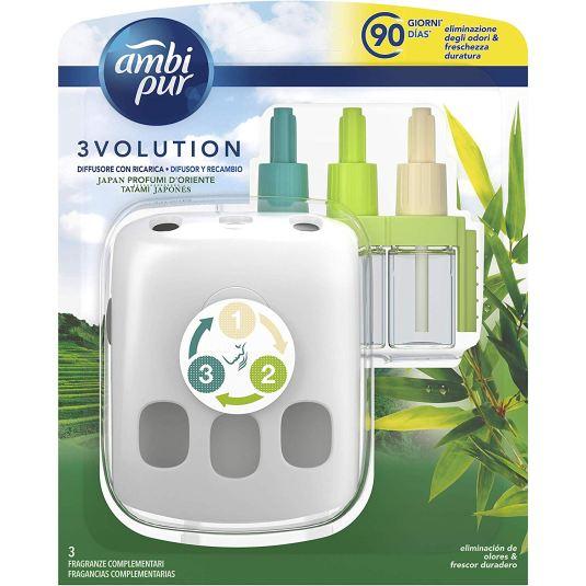 ambipur 3volution ambientador electrico tatami japones 3 fragancias aparato + recambio