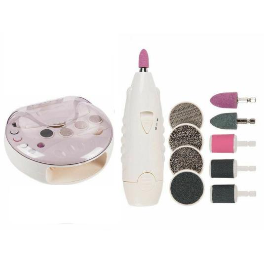 set manicura y pedicura con lima eléctrica y secador de uñas