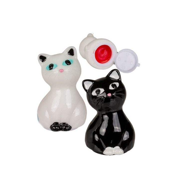 brillo de labios figurita 3d gato 1.5g diseño surtido