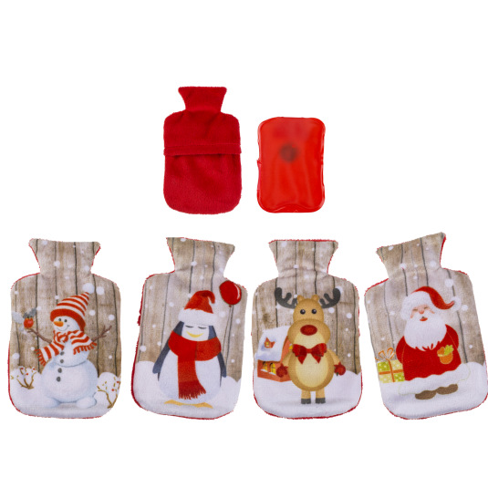 calentador de manos motivos navideños con forro polar surtido