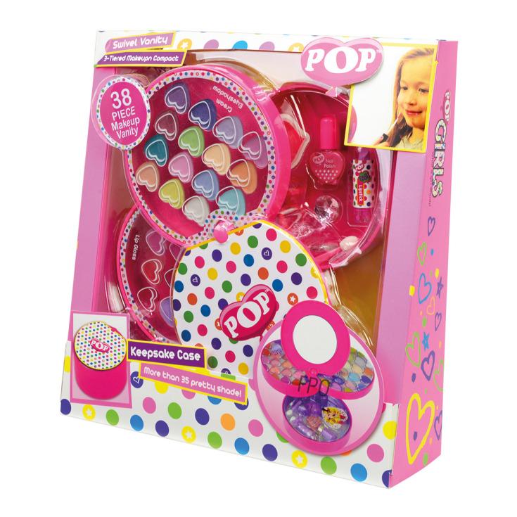 markwins pop lunares swivel set maquillaje infantil 38 piezas + neceser