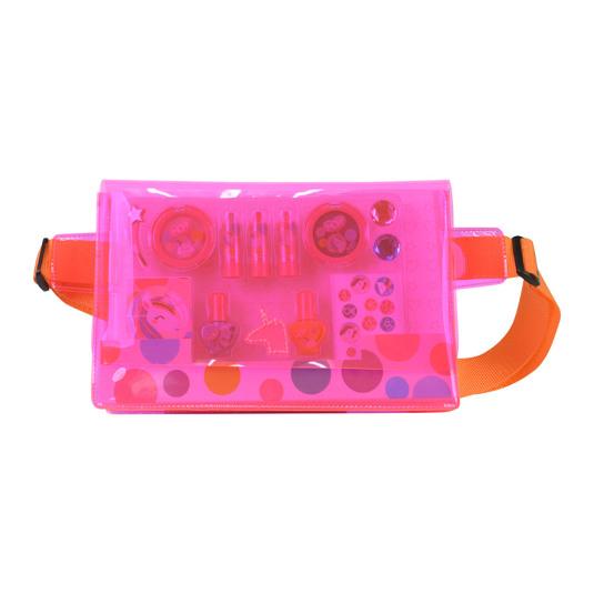 markwins pop riñonera de maquillaje rosa neon