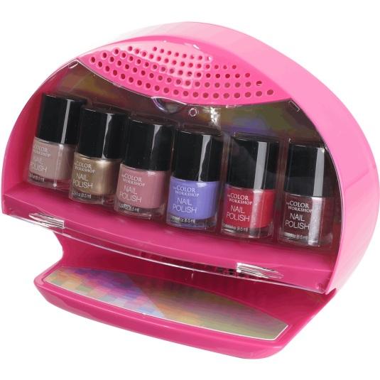 markwins tcw pink salon nails set de manicura con secador de uñas infantil