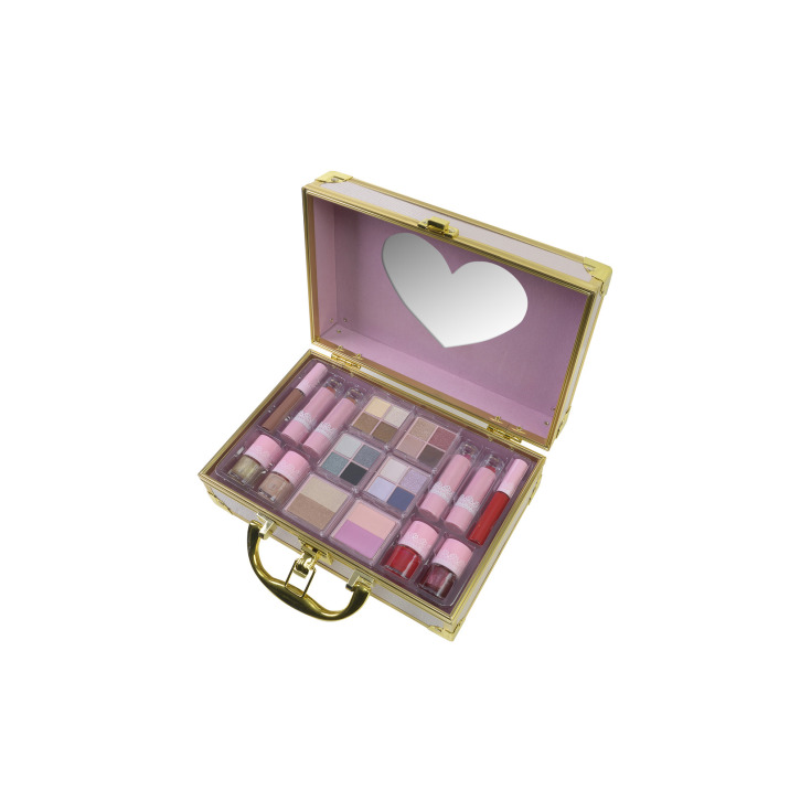 markwins sweetheart maletín metálico de maquillaje