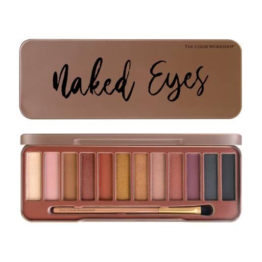 markwins naked eyes paleta de sombra de ojos 12 tonos