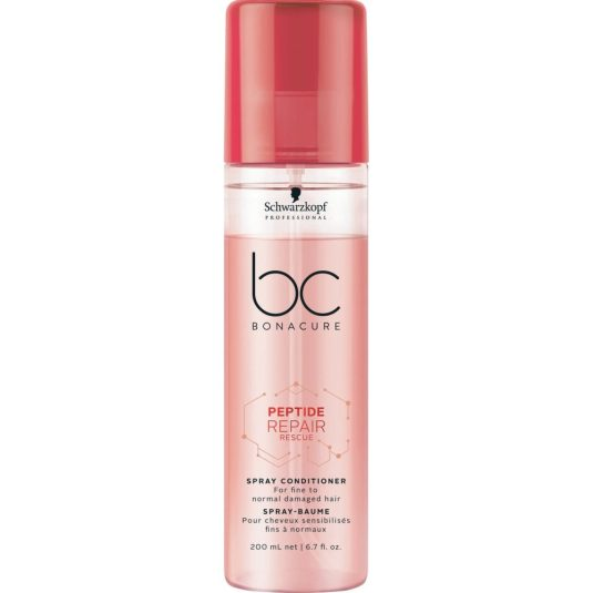 schwarzkopf pro bc bonacure peptide repair rescue spray acondicionador 200ml