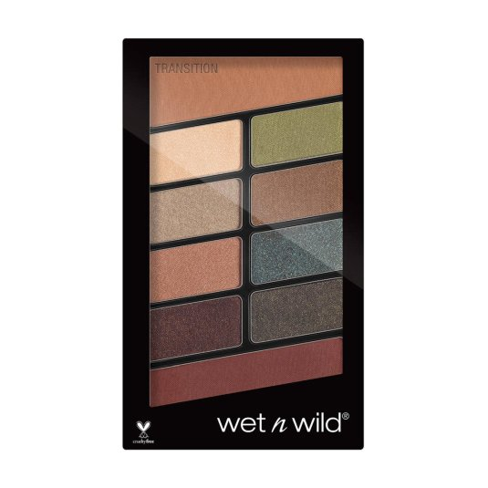 wet n wild color icon comfort zone paleta sombra de ojos 10 tonos