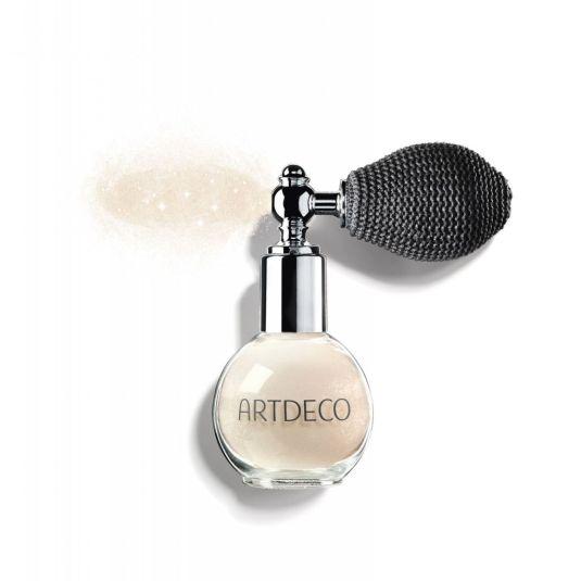 artdeco crystal beauty dust polvos sueltos con partículas brillantes para maquillaje rostro