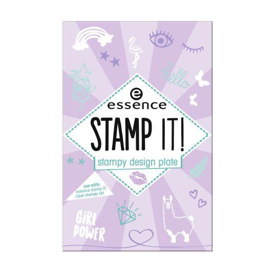 essence stamp it! plantilla para decoración de uñas