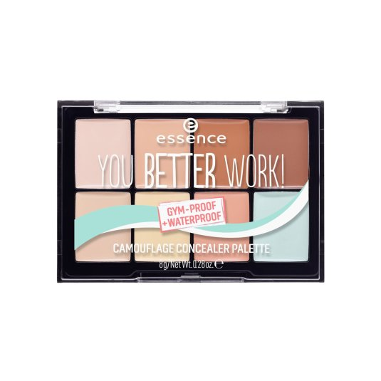 essence you better work! camouflage paleta de correctores waterproof