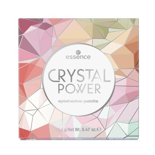 essence crystal power paleta de sombra de ojos 16 tonos