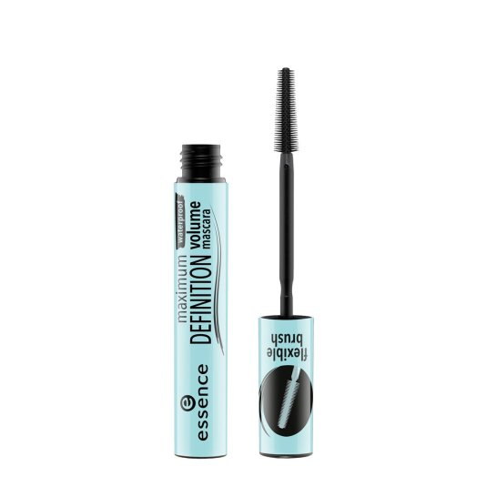 essence maximum definition waterproof volume mascara pestañas negra