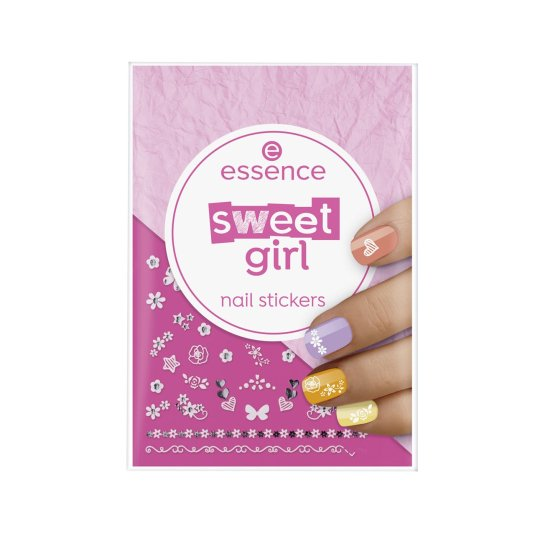 essence sweet girl nail stickers para uñas 44uds