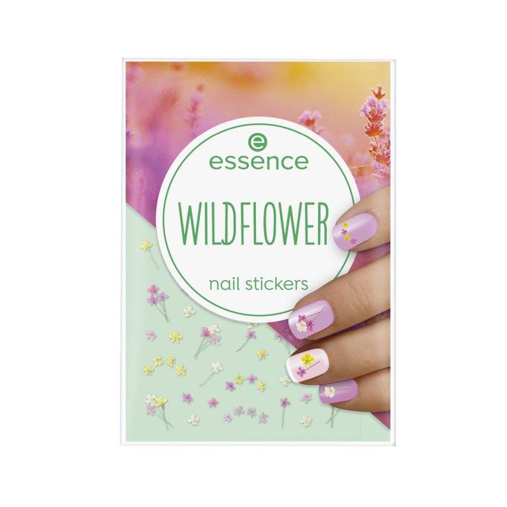 essence wildflower nail stickers para uñas motivos florales 41uds