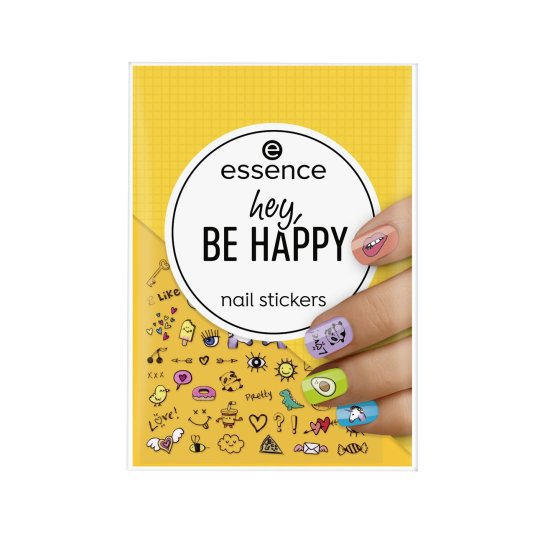 essence hey,be happy stickers de uñas 54 unidades