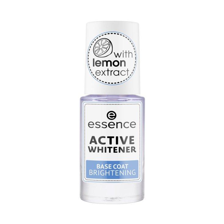 essence active whitener base uñas blanqueadora con brillo