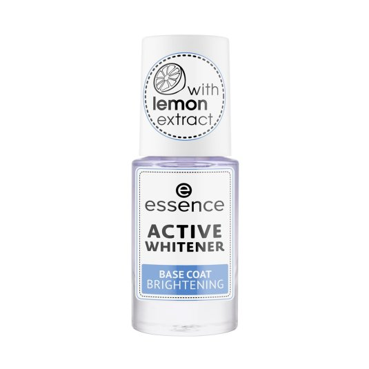 essence active whitener base uñas blanqueadora con brillo