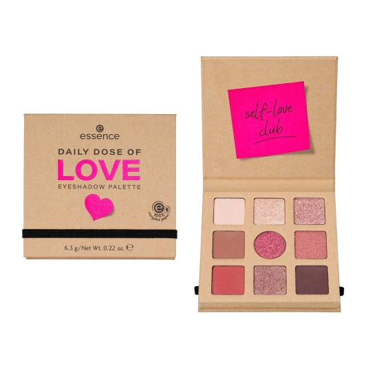 essence daily dose of love paleta de sombra de ojos