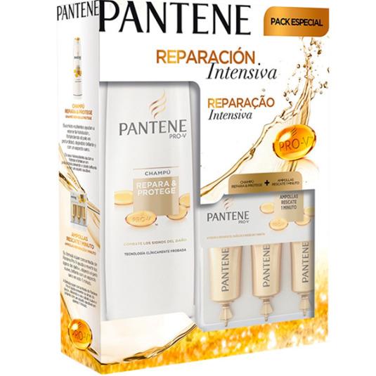 pantene pack repara & protege champu 360ml + ampollas rescate 3x15ml