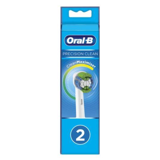 oral b recambio cepillo dental electrico precision clean 2 unidades