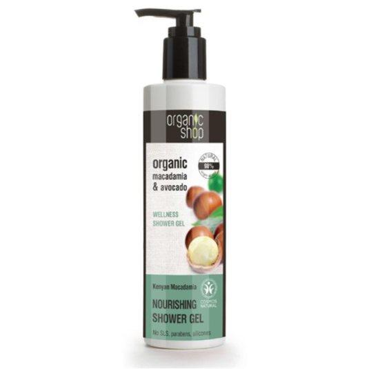 organic shop kenyan macadami gel de ducha dosificador 280ml