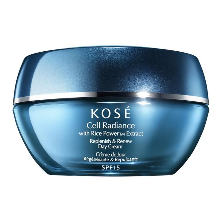 kose cell radiance with rice bran replenish & renew day cream spf15 40ml
