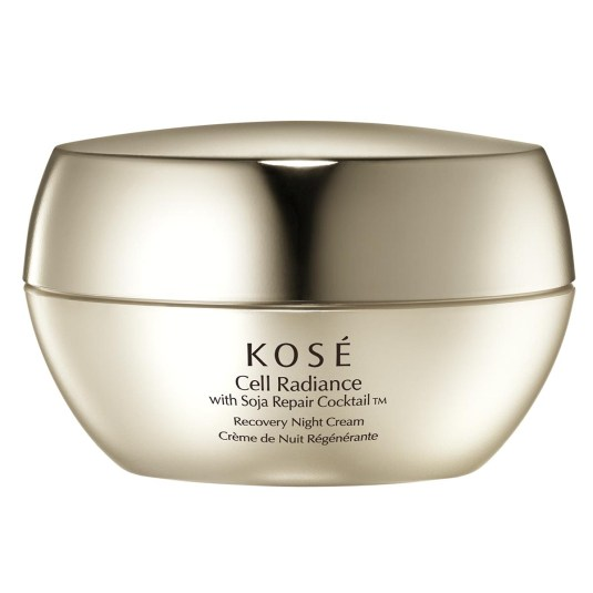 kose cell radiance with soja repair cocktaill recovery night 40ml
