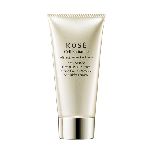 kose cell radiance with soja repair cocktail anti-wrinkle firming neck cream 75ml