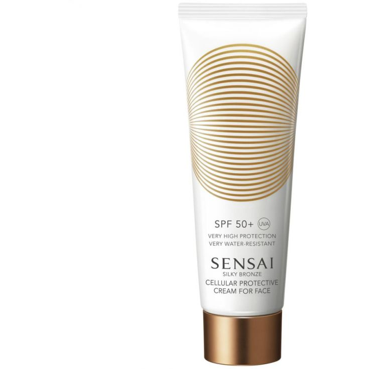 sensai silky bronze cellular protective cream  face spf50+