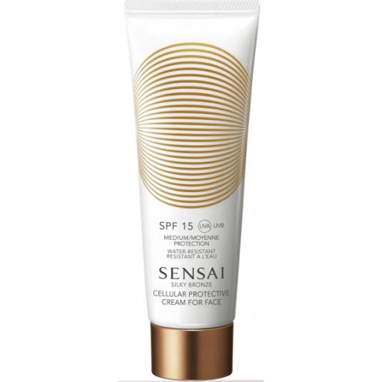 sensai silky bronze solar facial antienvejecimiento spf30 50ml