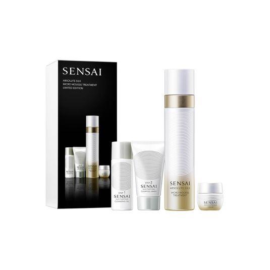 sensai absolute silk micro mausse treatment set 4 piezas ed. limitada