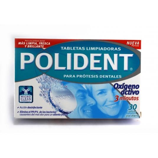polident tabletas limpiadoras oxígeno activo 30uds