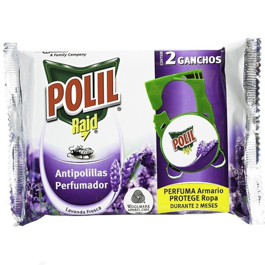 polil colgador antipolillas perfume lavanda duplo 2 unidades
