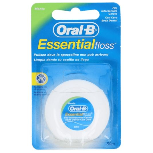 oral b essential floss seda dental menta 50m