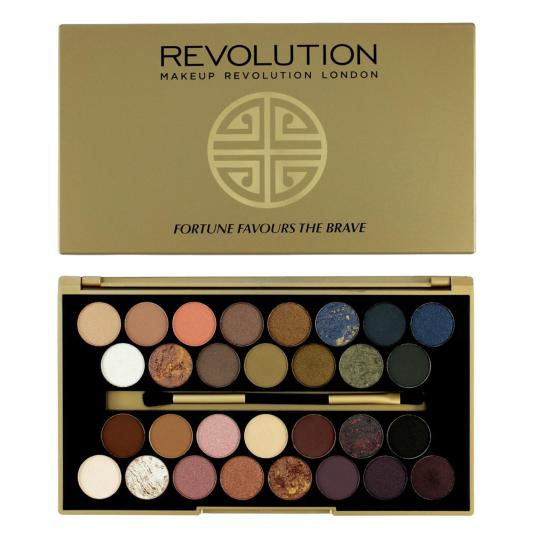 revolution eyeshadow palette fortune favours the brave