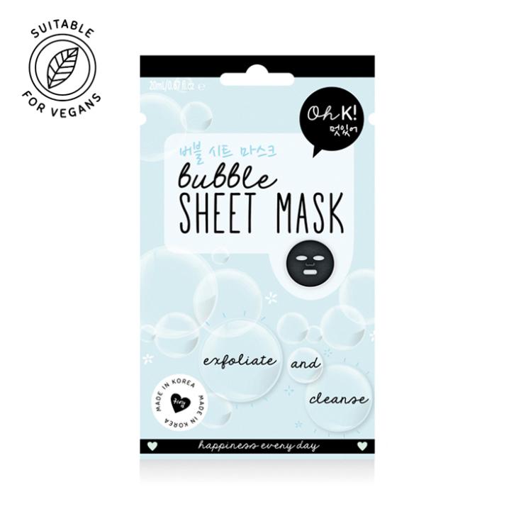 oh k! bubble mascarilla facial exfoliante y limpiadora