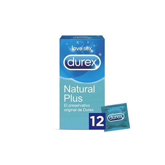 durex natural plus preservativos 12 unidades