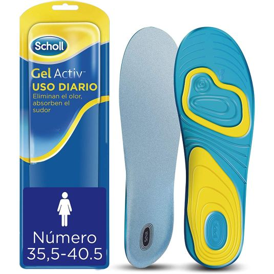 scholl gel activ plantillas uso diario mujer talla 35.5-40.5 1 par