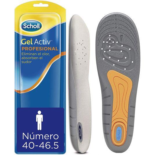 scholl gel activ plantillas profesional hombre para calzado trabajo talla 40-46.51 par