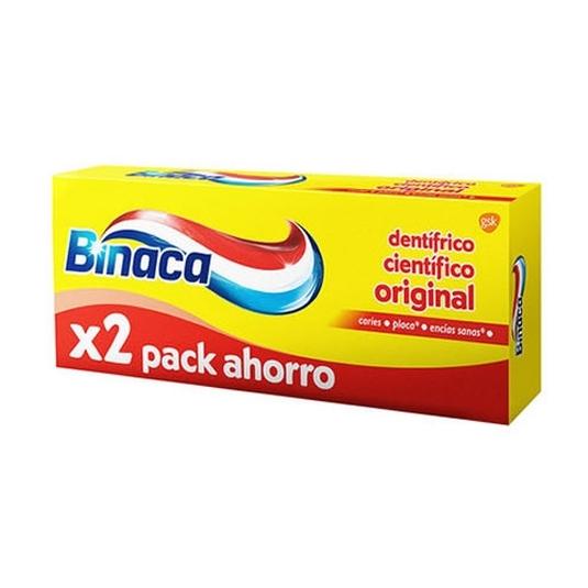 binaca amarillo pastas de dientes duplo 2x75ml
