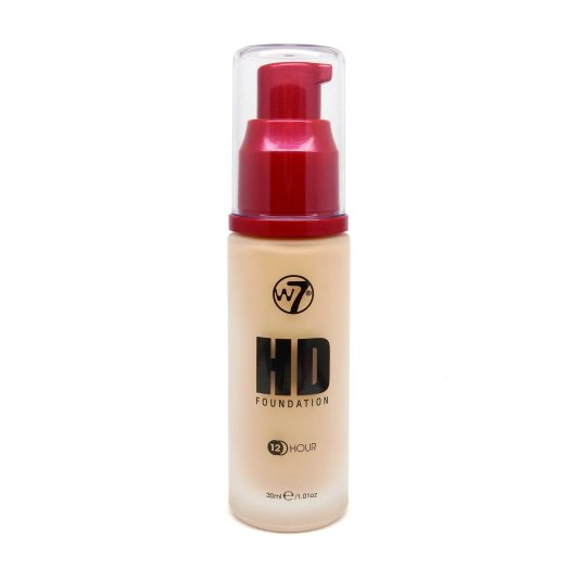 w7 hd foundation base de maquillaje líquida 12horas