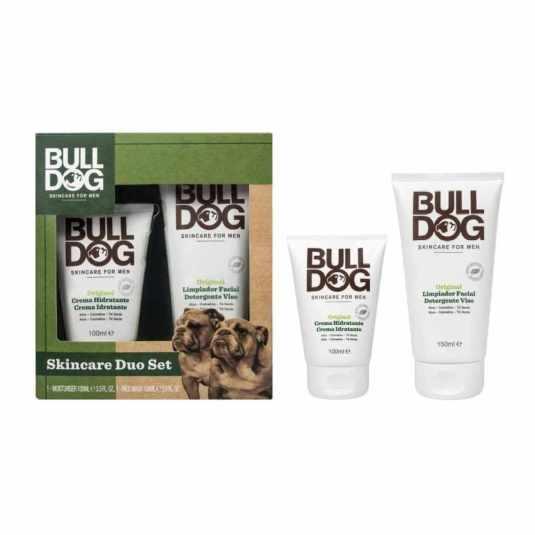 bulldog set limpiador facial y crema hidratante para hombre