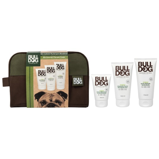 bulldog skincare men kit cuidado facial  3 piezas neceser